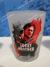 Walking Dead Daryl Sorry Brother Logo Frosted Shot Glass Mini Barware Norman AMC