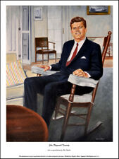 More details for john fitzgerald kennedy: limited edition print from a painting by peter deighan