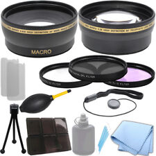 58mm 0.43x Wide Angle 2.2x Telephoto Lens, Filter Kit for Canon T3i 70D 5D T6