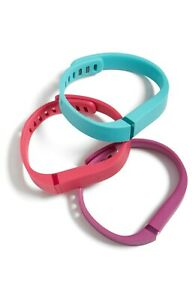 J7 Fitbit - Violet-Teal-Pink Flex Activity And Sleep Wristband Pack Small