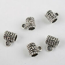 30pcs dark silver-tone cup bead fit bracelet 8011
