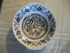 """Wedgwood Onion Bowl Blue Heritage Pattern measures approx. 8"""" diameter 2"""" high"""