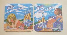 HONG KONG Mat Coaster SAN MIGUEL LIGHT BEER 2014 New LIGHT & FREE Bikini Lady