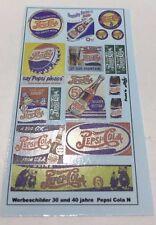 Werbung 30 und 40 Jahre Pepsi Decals 1:160 Spur N