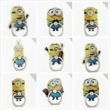 Minions cute Rotating Cell Phone iPhone Bracket Grip Finger Ring Stand Holder