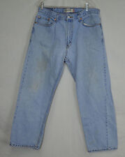 Levi's 505 Regular Fit 38x30 faded straight Leg blue jeans dungarees