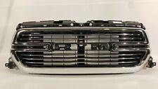 2019 DODGE RAM 1500 FRONT BUMPER RADIATOR CHROME GRILLE WITHOUT EMBLEM 19 OEM