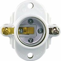 Eaton S752W-SP 660-Watt 250-volt Medium Base Keyless Cleat Socket, White