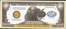 ELEPHANT ~ One Million Note - Fantasy Money - Endangered Species Series - L@@K