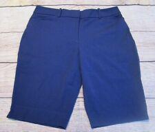 White House Black Market Blue Bermuda Short Womens Size 12 Cotton Blend