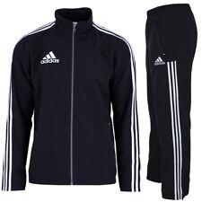 adidas Herren Team 3-Streifen Trainingsanzug Jogginganzug Sportanzug schwarz