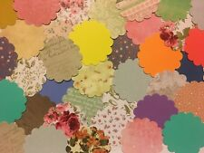 """x30 SCALLOP Circle 2"""" 5cm PAPER PUNCH/ PUNCHIES - CRAFT SCRAPBOOKING ASSORTED"""