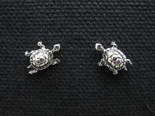 TURTLE .925 Sterling Silver Stud / Post Earrings - FREE SHIPPING & Gift Box!!