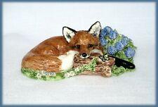 Susan Kimmel Fox Sculptures - A Summer Garden Repose *Ooak*