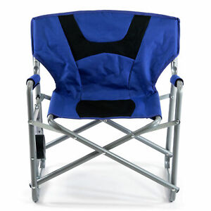 SlumberTrek Junior Outdoor Director Chair with Side Folding Table for Kids, Blue