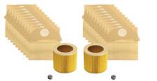 20 x bidon Sacs Aspirateur & Filtres Pour Karcher WD2, WD2200