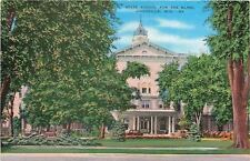 Janesville Wisconsin~Summer Trees @ State School for the Blind~1940s Postcard