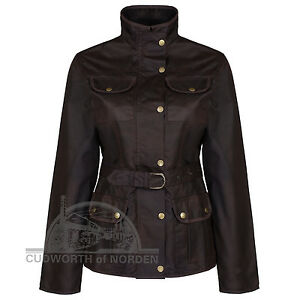 LADIES BELTED WAXED JACKET Waterproof Equestrian, fashion NEW Stock 7 day SALE