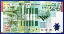 Israel 20 New Sheqalim Shekel Banknote Polymer 60th Anniversary 2008 XF - Rare