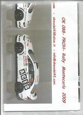 Décal MITSUBISHI EVO X N°19 Rally WRC Monte Carlo 2009 Montecarlo