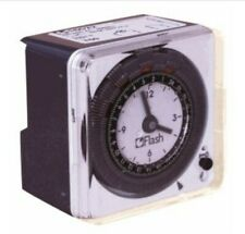 24 Hours Mechanical Chronometry Time Switch Timer with Cover AC 240V IP30 FLASH