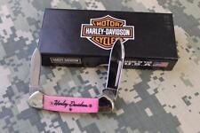NEW Case XX Cutlery #52104 Harley Davidson PINK Butterbean Pocket Knife 2 Blade