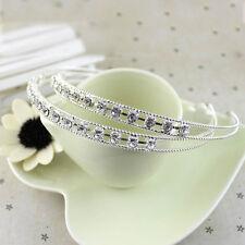 Serre Tête Cheveux Bandeau Mariage Soirée Métal Cristal Femme Bijoux bande IDXX