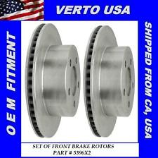 Verto USA Set of 2 Front Disc Brake Rotor- fit Jeep 5396X2