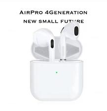 AirPro 4gen with Wireless Charging Case - White