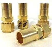 "Lot of 4 Swagelok B-810-R-12 Brass Tube Fitting Reducer 1/2""x3/4"" frational"