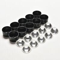 10 pcs 5degree led Lens for 1W 3W High Power LED with screw 20mm Black holder ~