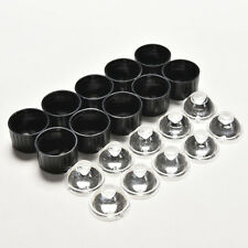 10pcs 5degree led Lens for 1W 3W High Power LED with screw 20mm Black holder ESU