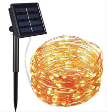 10M 100LED Solar Copper Wire Fairy String Lights Christmas Party Garden Outdoor