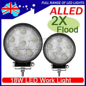 2X12V 24V 18W LED Flood Work Light Boat/Caravan/Camping/4X4/Bar/Security Lamp