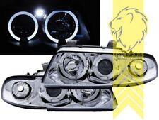 LED Angel Eyes Scheinwerfer für Audi A4 B5 8D Limousine Avant chrom