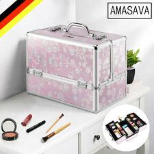 Kosmetikkoffer Schminkkoffer Friseurkoffer Beautycase Nageldesignkoffer XL Rosa