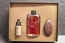 Gucci Guilty Absolute Pour Homme Gift Set 3.0 EDP Spray 1.0 Beard Oil/Brush NIB