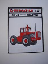 Versatile 800 4WD Tractor Brochure Rare Vintage Original MINT '73-75