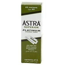 100 Pc Astra Superior Platinum Double Edge Shaving Razor Blades Free Shipping
