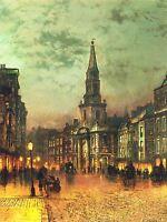 JOHN ATKINSON GRIMSHAW BLACKMAN STREET LONDON 1885 ART POSTER 1617OMLV
