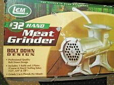 Meat Grinder set, Lem # 32 Hand Meat Grinder, Never Used