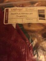 Longaberger Proudly American Darning Basket Liner Only Paprika NIB