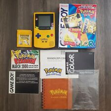 Game Boy Color Pokemon Pikachu Yellow System 100% Complete CIB Nintendo RARE HTF