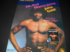 Carl Carlton Jams Gold with Sexy Lady 1981 Promo Poster Ad mint condition