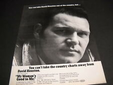 DAVID HOUSTON take him out of the country but...you can't.. 1969 PROMO POSTER AD