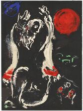 Marc Chagall : Jesaja (Prophet). - Lithographie aus Verve/Bible, 1956