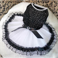 Pet Puppy Small Dog Lace Princess Tutu Dress Skirt Clothes Apparel Costume S