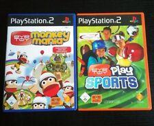 EYETOY: play SPORTS + + MONKEY MANIA + + 2x COMPLETO + + (Sony Playstation 2) cib