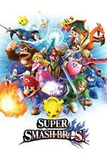 NINTENDO SUPER SMASH BROS BROTHERS VIDEO GAME POSTER NEW 24x36 FREE SHIPPING