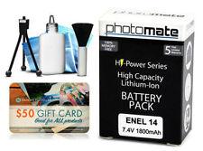 Baterías para cámaras de vídeo y fotográficas Nikon sin cargador incluido